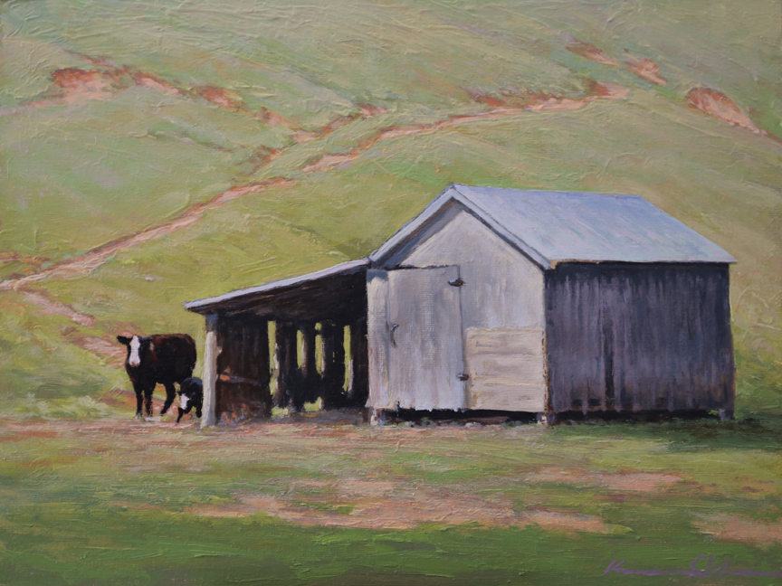 Cattle Shed   9 x 12   Oil on Canvas (SOLD)