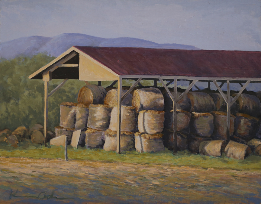 Winter Hay   11 x 14   Oil on Canvas