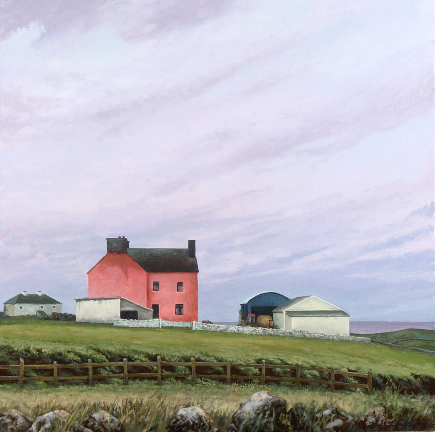 Watermelon Farmhouse (County Clare)   24 x 24   Oil on Canvas (sold)