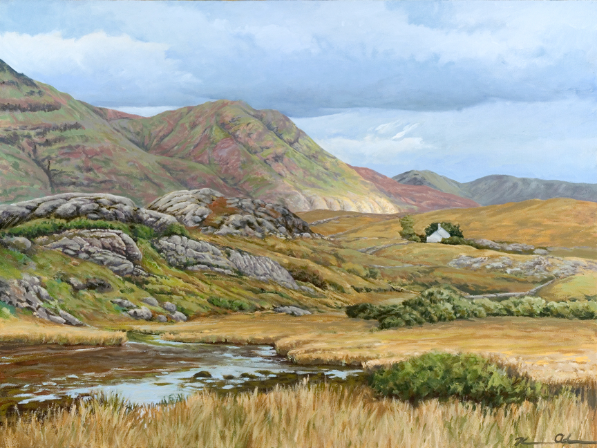 North of Galway (Connemara)   18 x 24   Oil on Canvas (sold)
