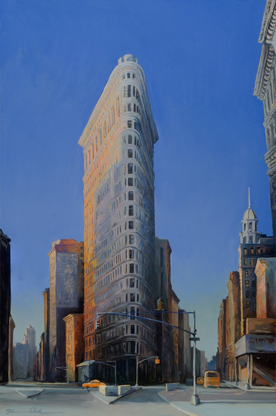 Morning Flatiron Color   40 x 28   Oil on Canvas (sold)
