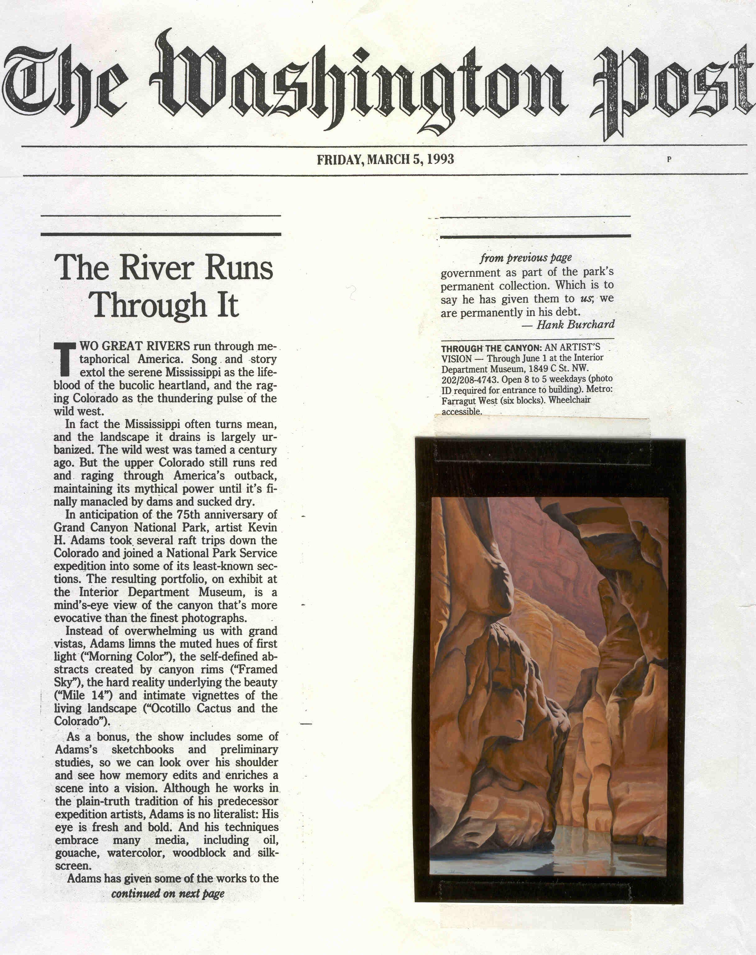The Washington Post, March 1993