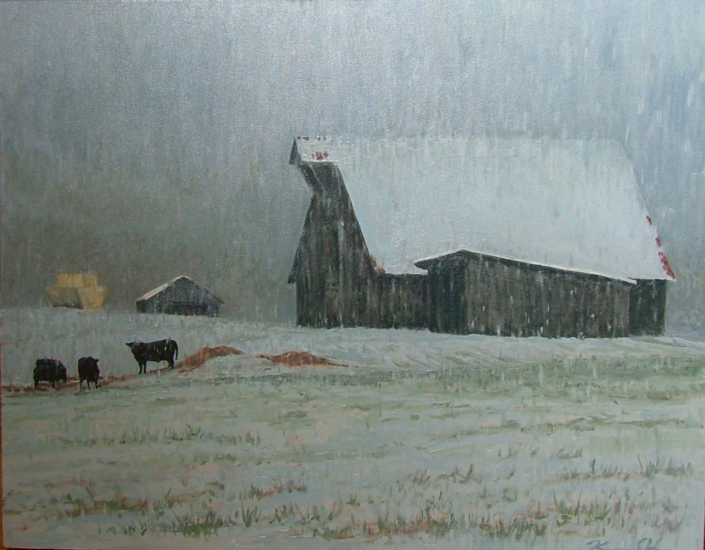 Winter Storm   24 x 36   Oil on Canvas