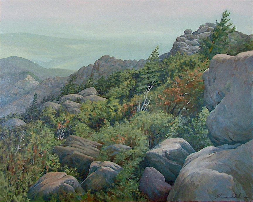 Shenandoah and the Piedmont (Giclee Print)   18 x 20   Original: Oil on Canvas Proceed go to Shenandoah National Park Trust ($210)