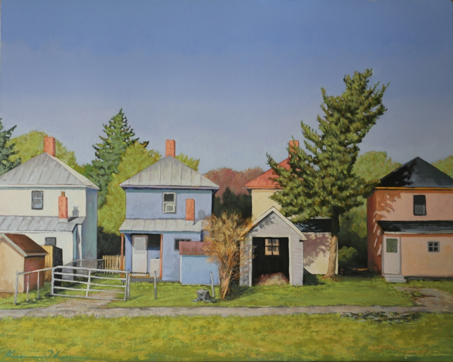 Front Royal Row Houses 24 X 30 Oil on Canvas  SOLD
