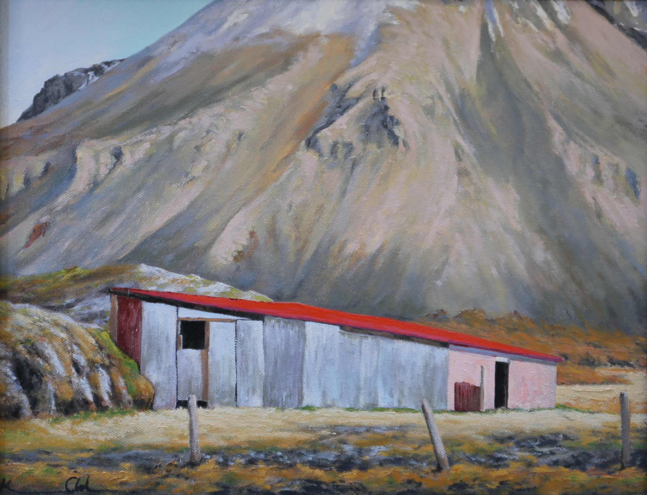 Icelandic Shed 11 X 14 oil on canvas board (sold)