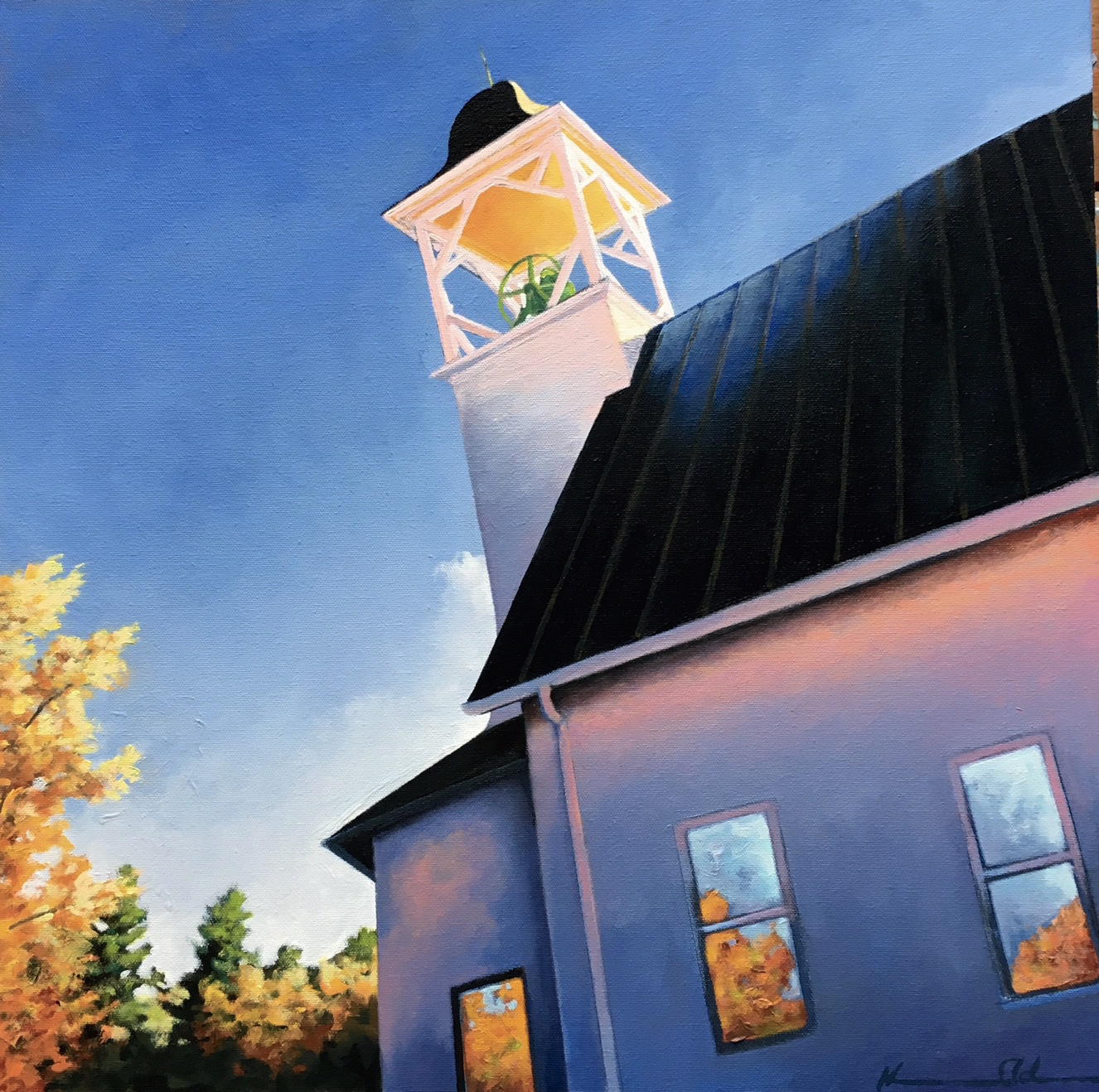 Bell Tower  20 X 20 oil on canvas (sold)