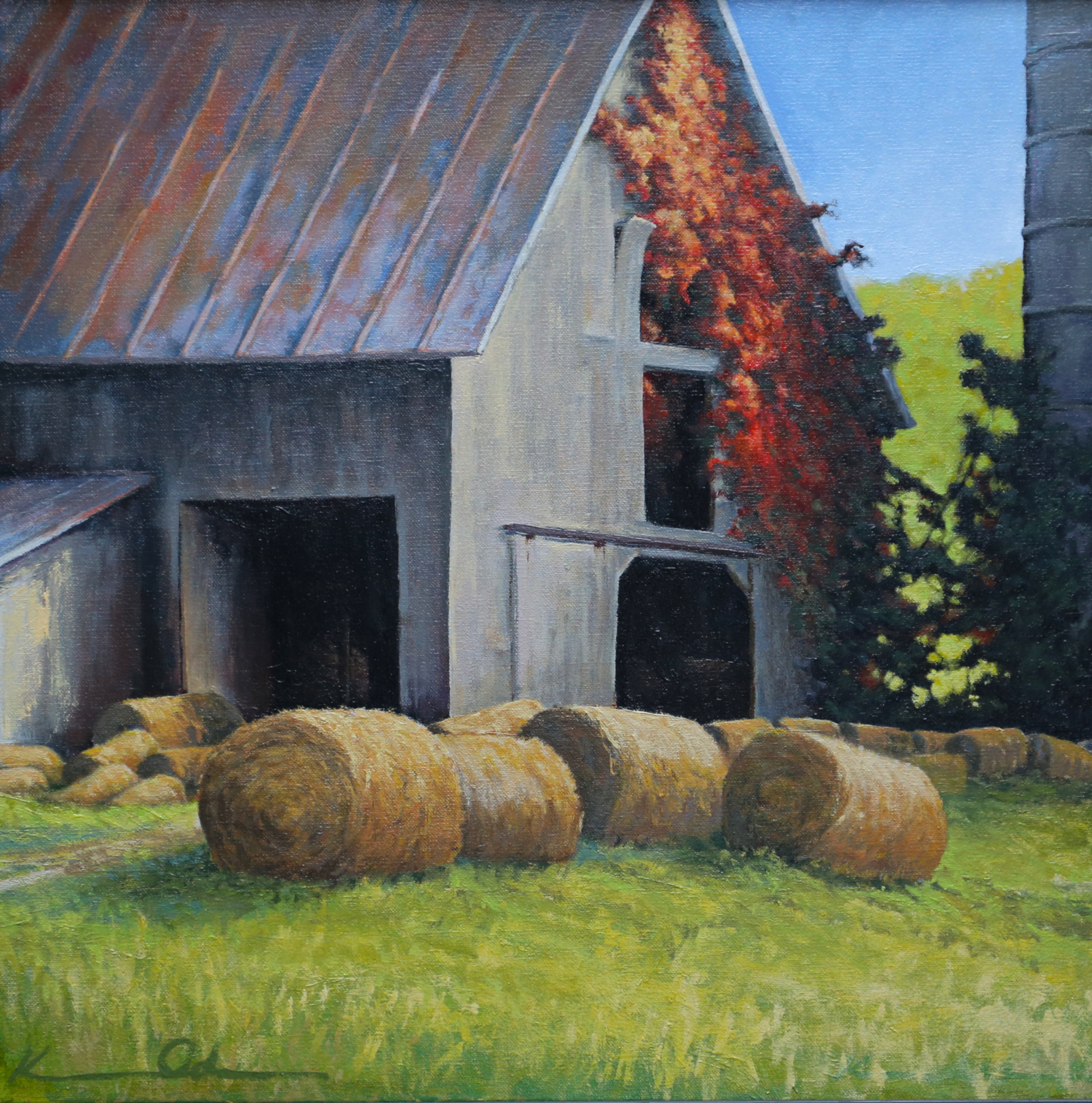 Rudasill Mill Barn 20 X 20 oil on canvas (sold)