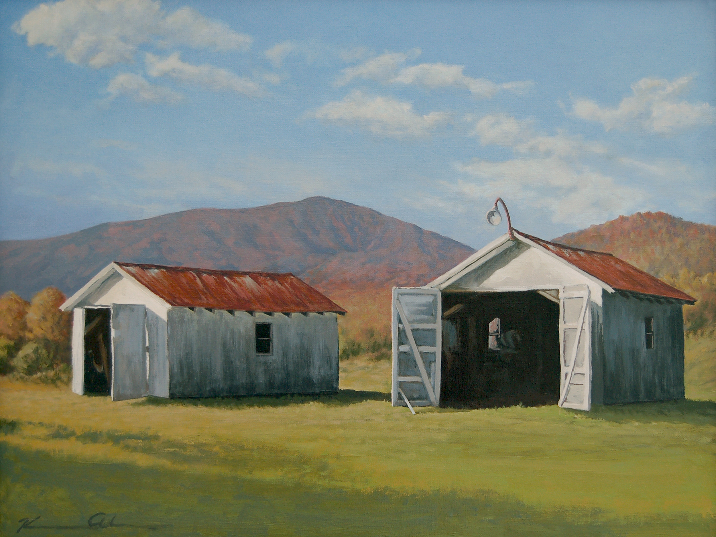 Twin Sheds 18 X 24 oil on canvas  SOLD
