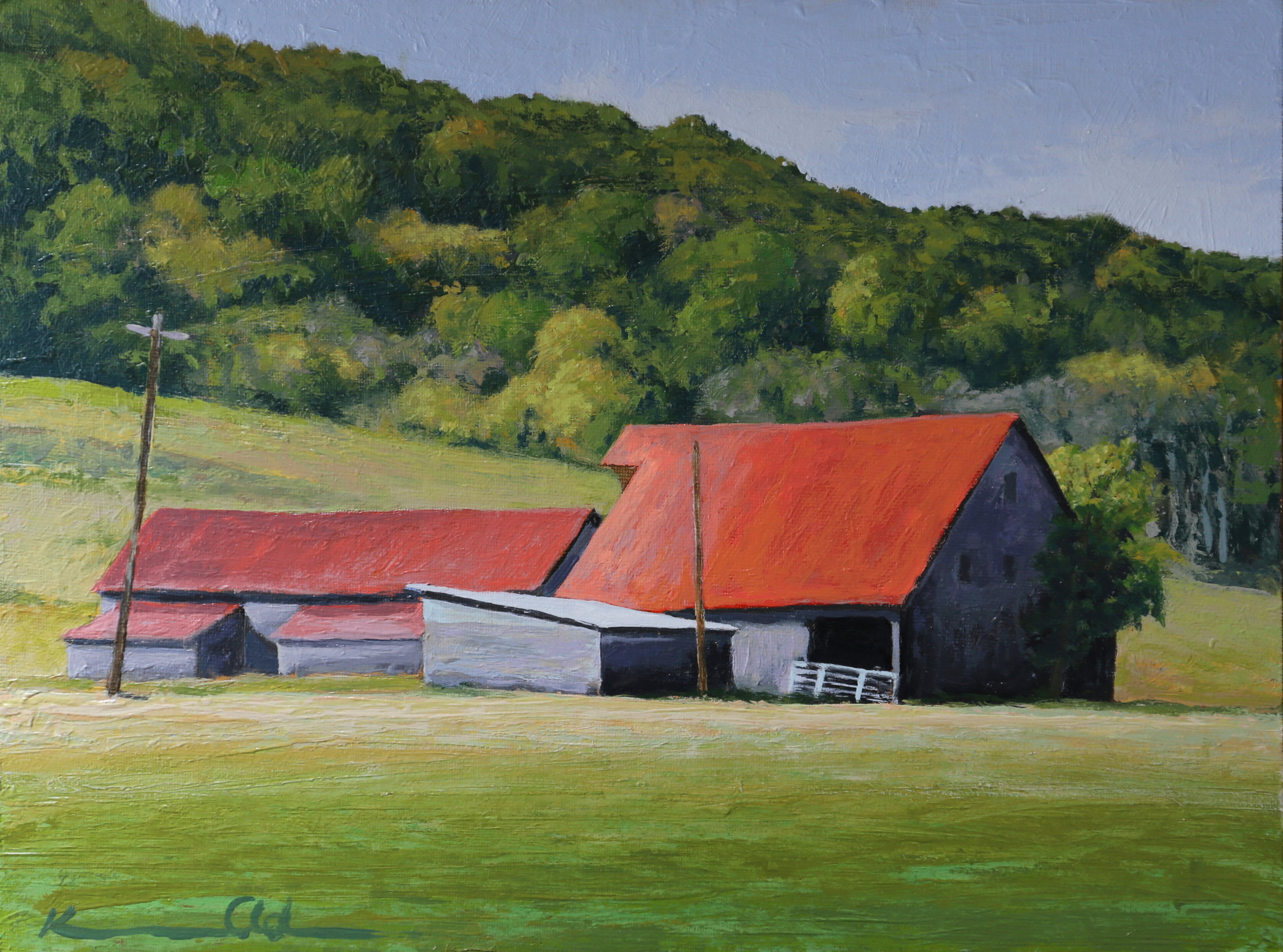"Ginger Hill Farm 11"" X 14"" oil on canvas (SOLD)"
