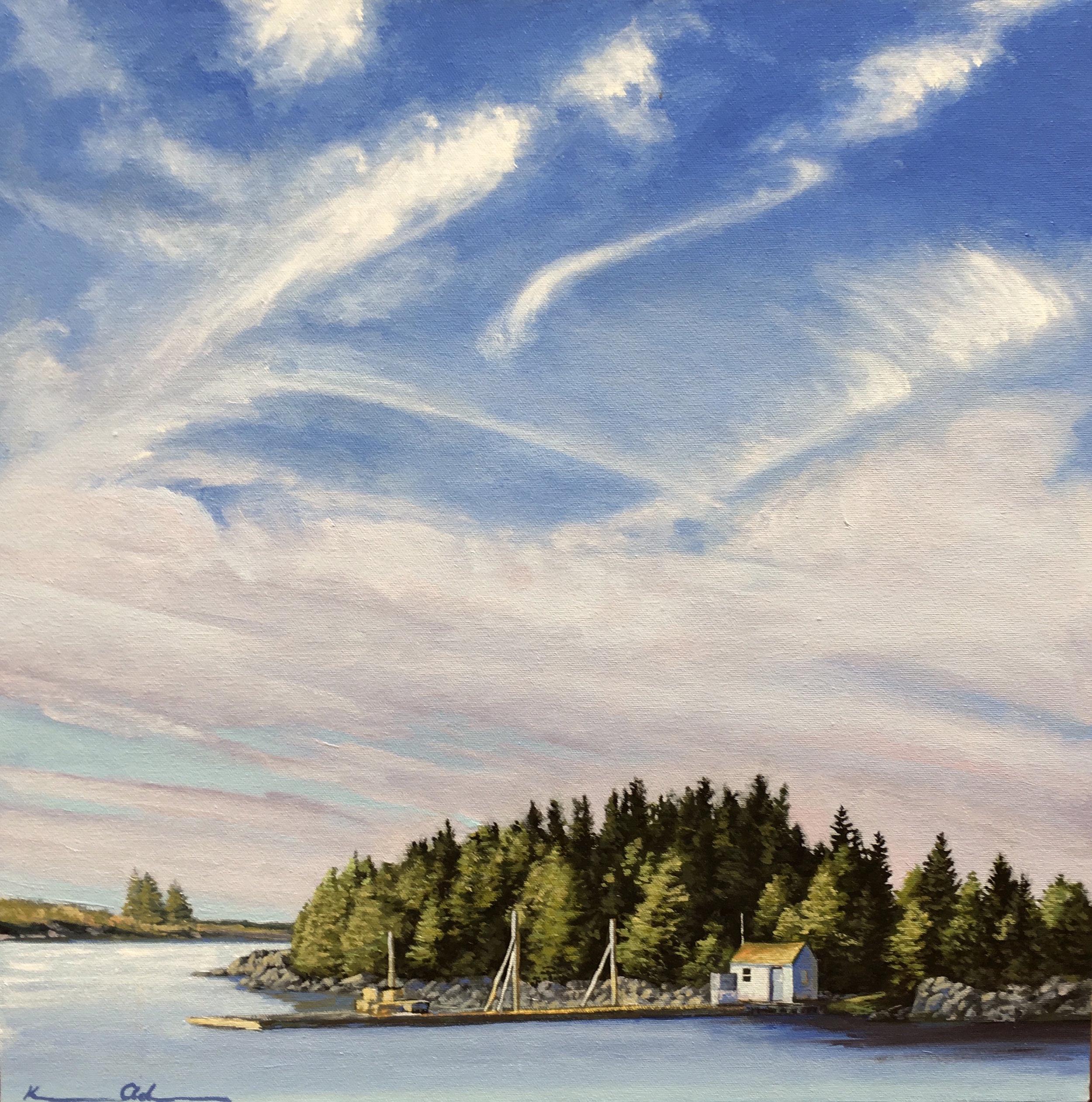 """""""Vinalhaven Harbor"""" 24 X 24 OOC"""