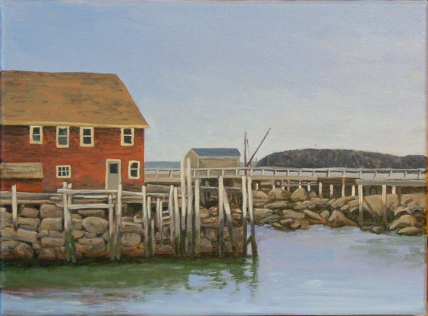 Maine Boat House III 9 X 12 oil on panel (sold)
