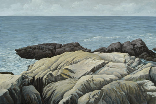 """Rocky Shoreline"" 24 X 30 OOC (Sold)"