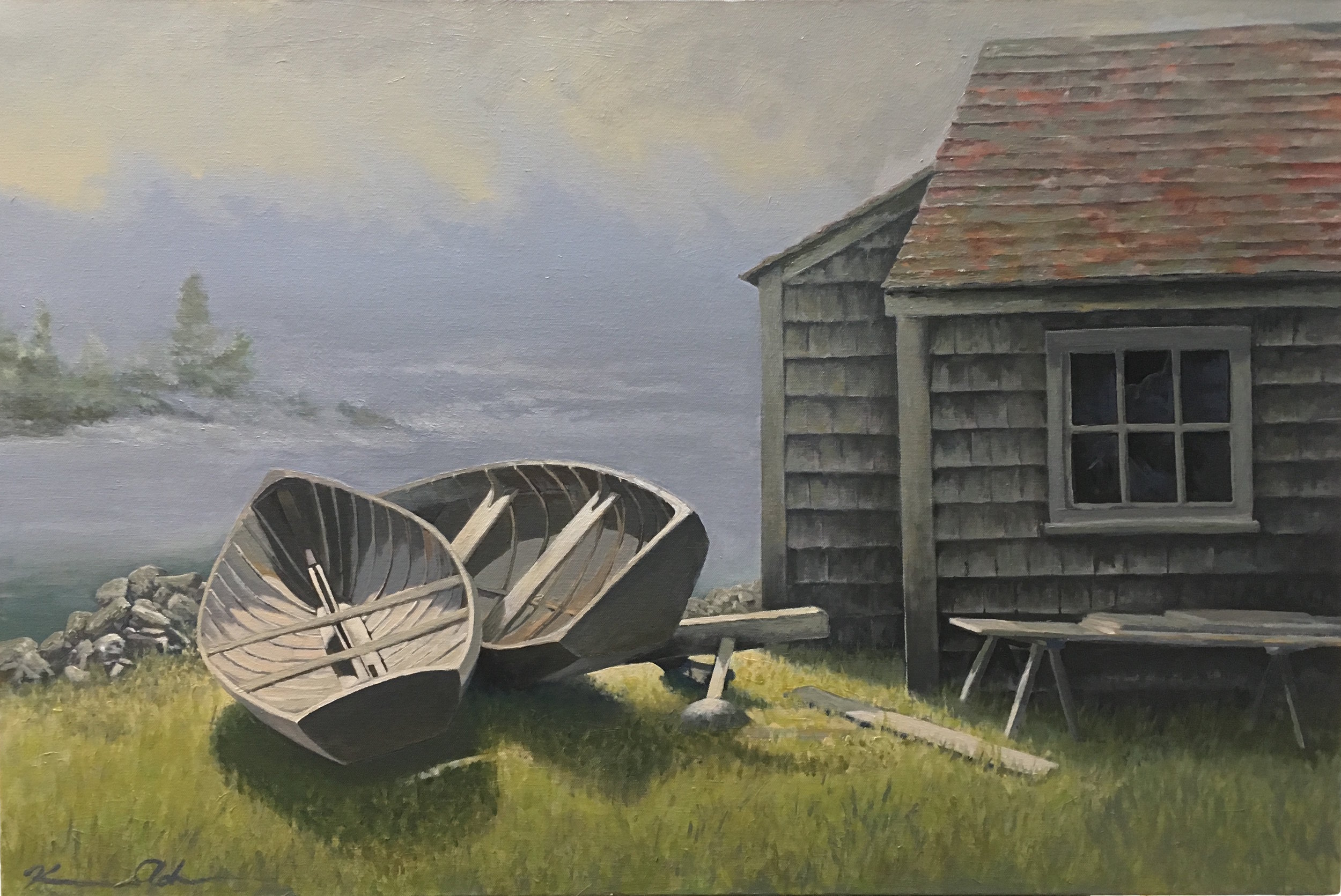 Along The Coast; Vinalhaven 24 X 30 Oil (SOLD)