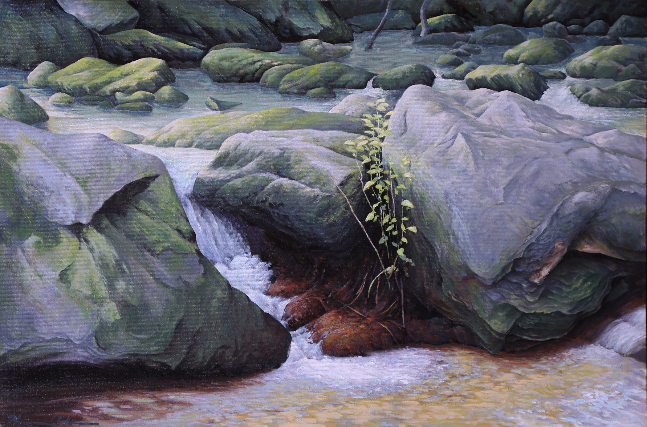 Along the Trail: Shenandoah National Park 24 X 36 oil on canvas: (SOLD)