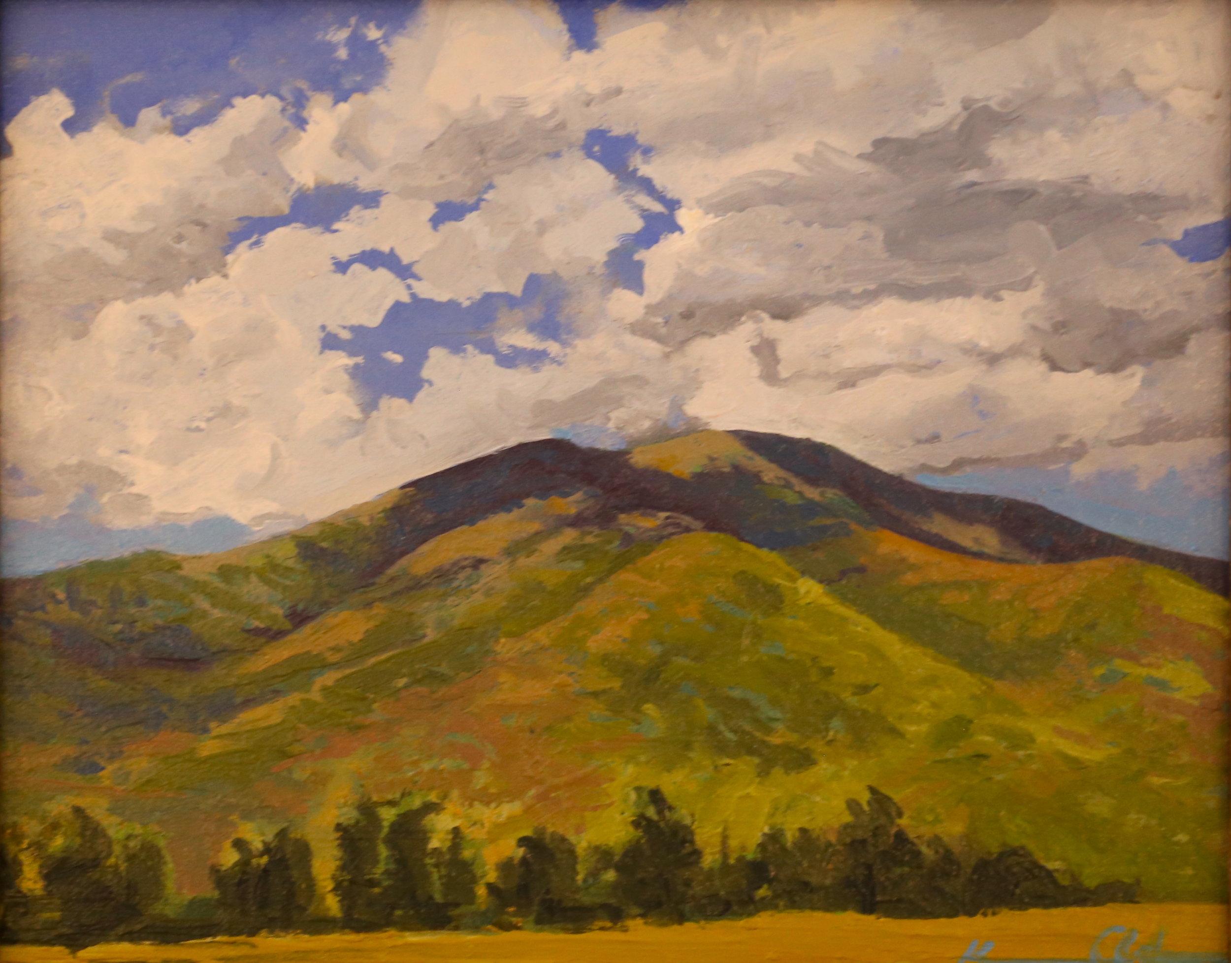 The Peak: Mnt. Marshall  8 X 10 oil on panel