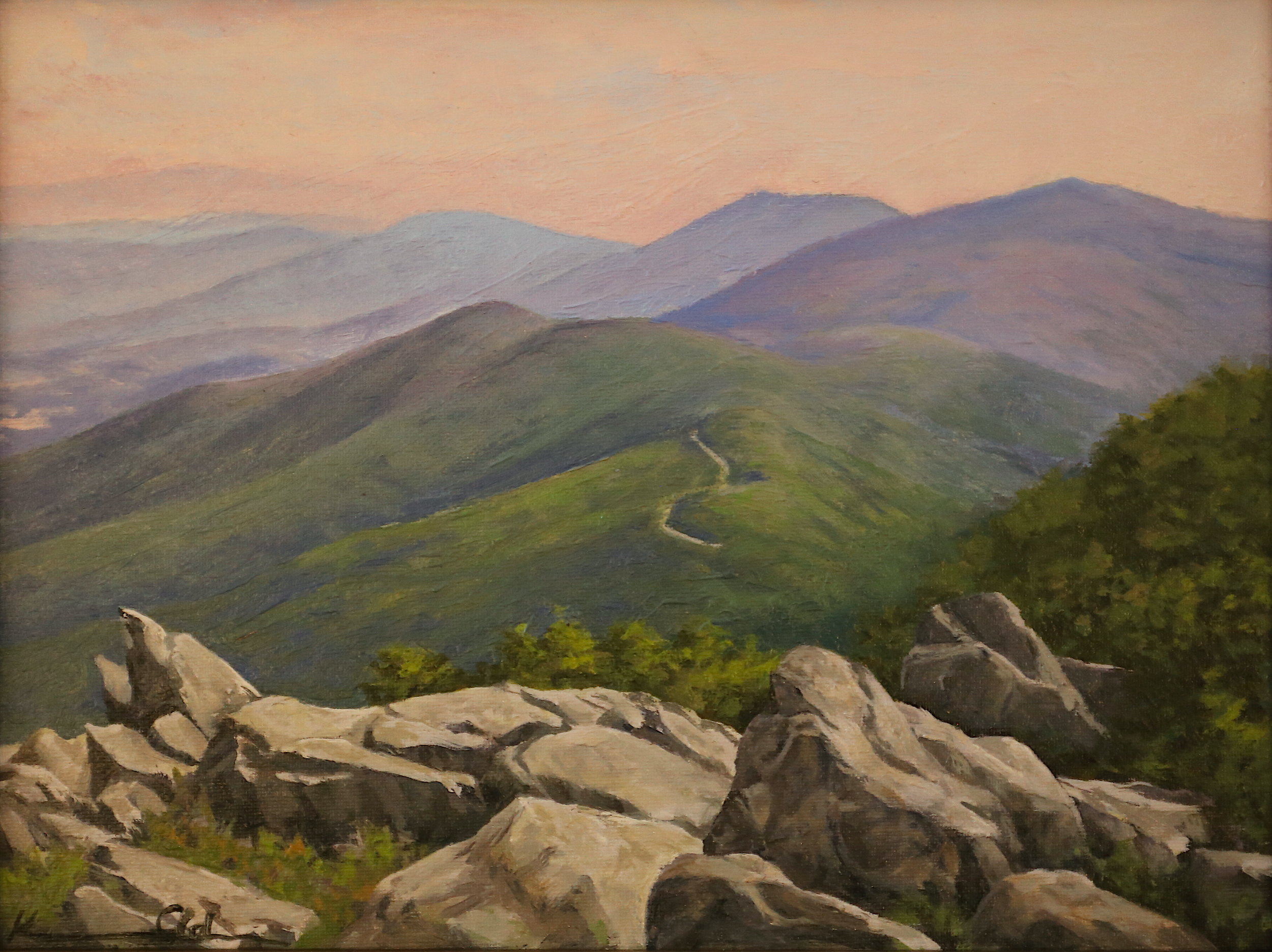 Stoney Man View: Looking North 9 X 12 oil on panel