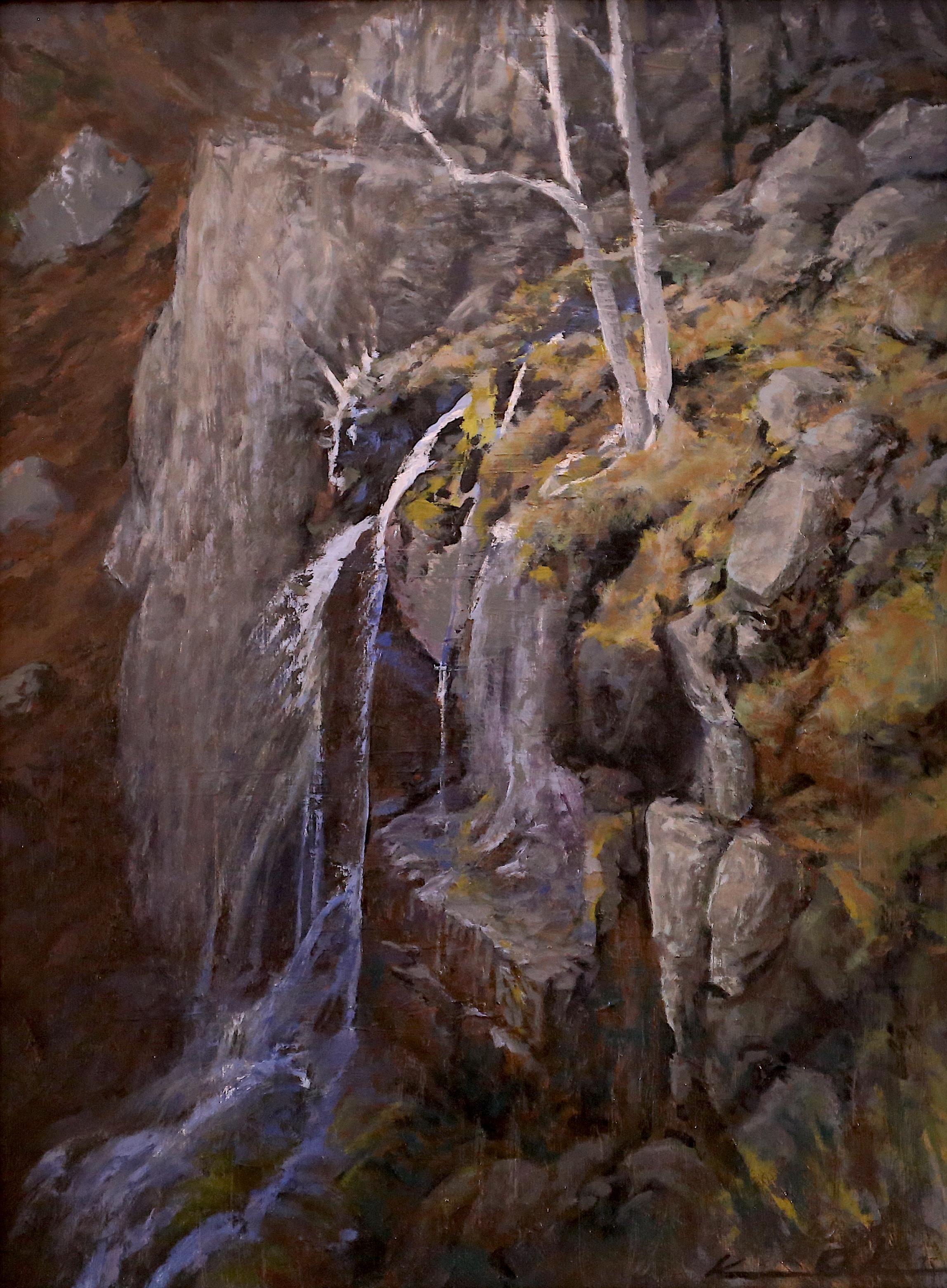 Lewis Falls  12 X 16  oil on panel
