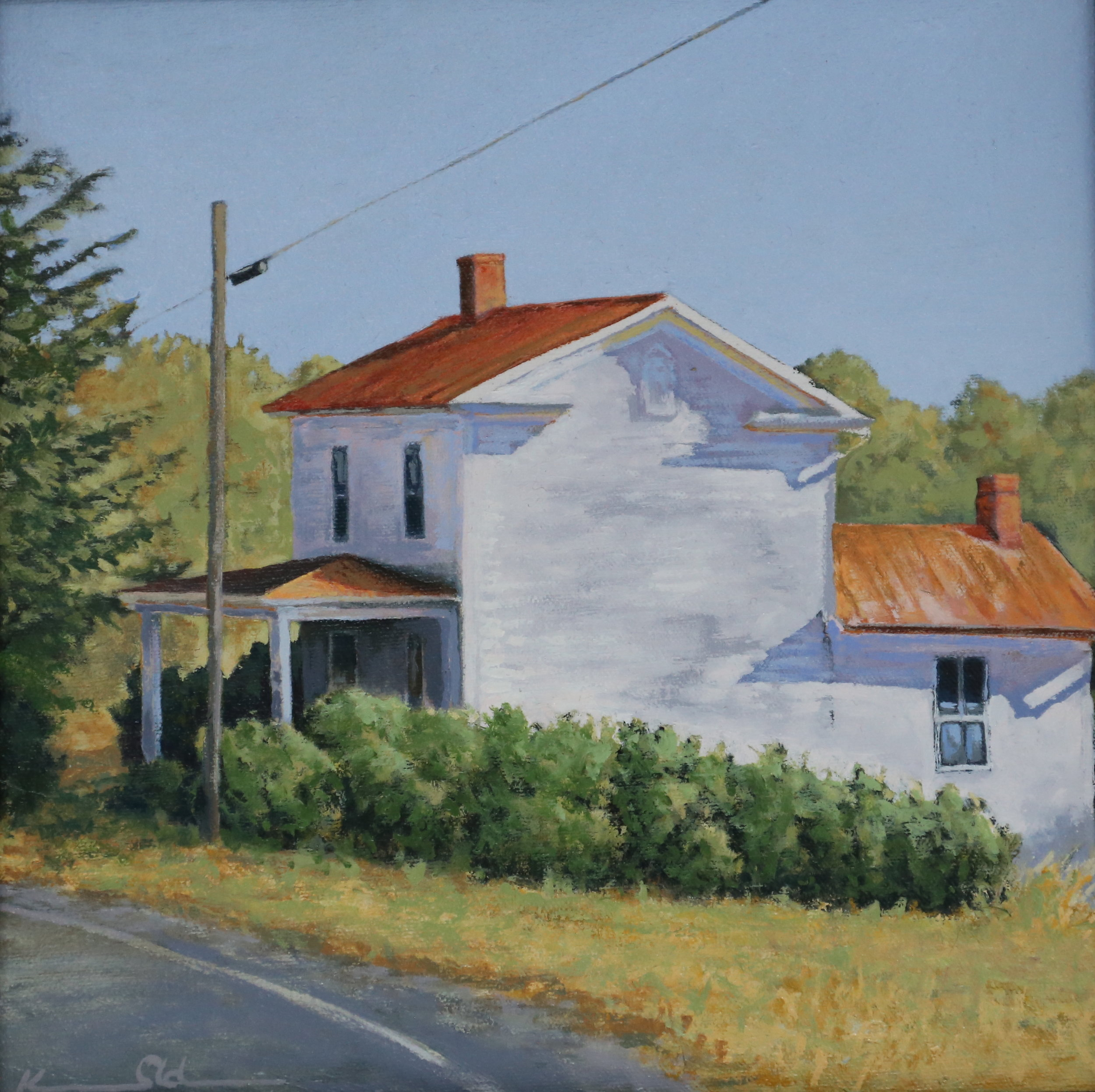 """ Warren House ""  12 X 12  oil on canvas"
