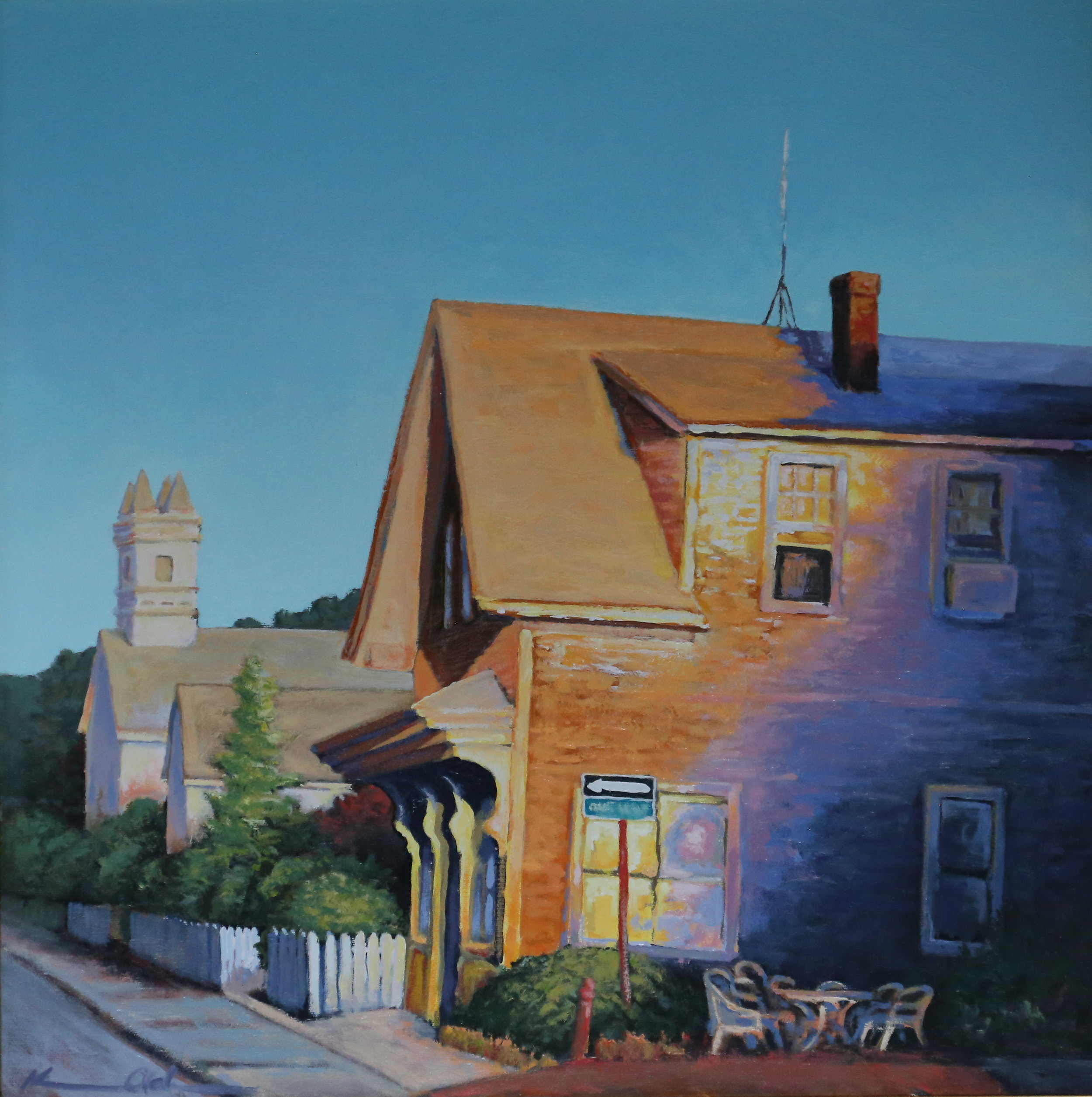 """ East End Morning ""  24 X 24 oil on canvas"