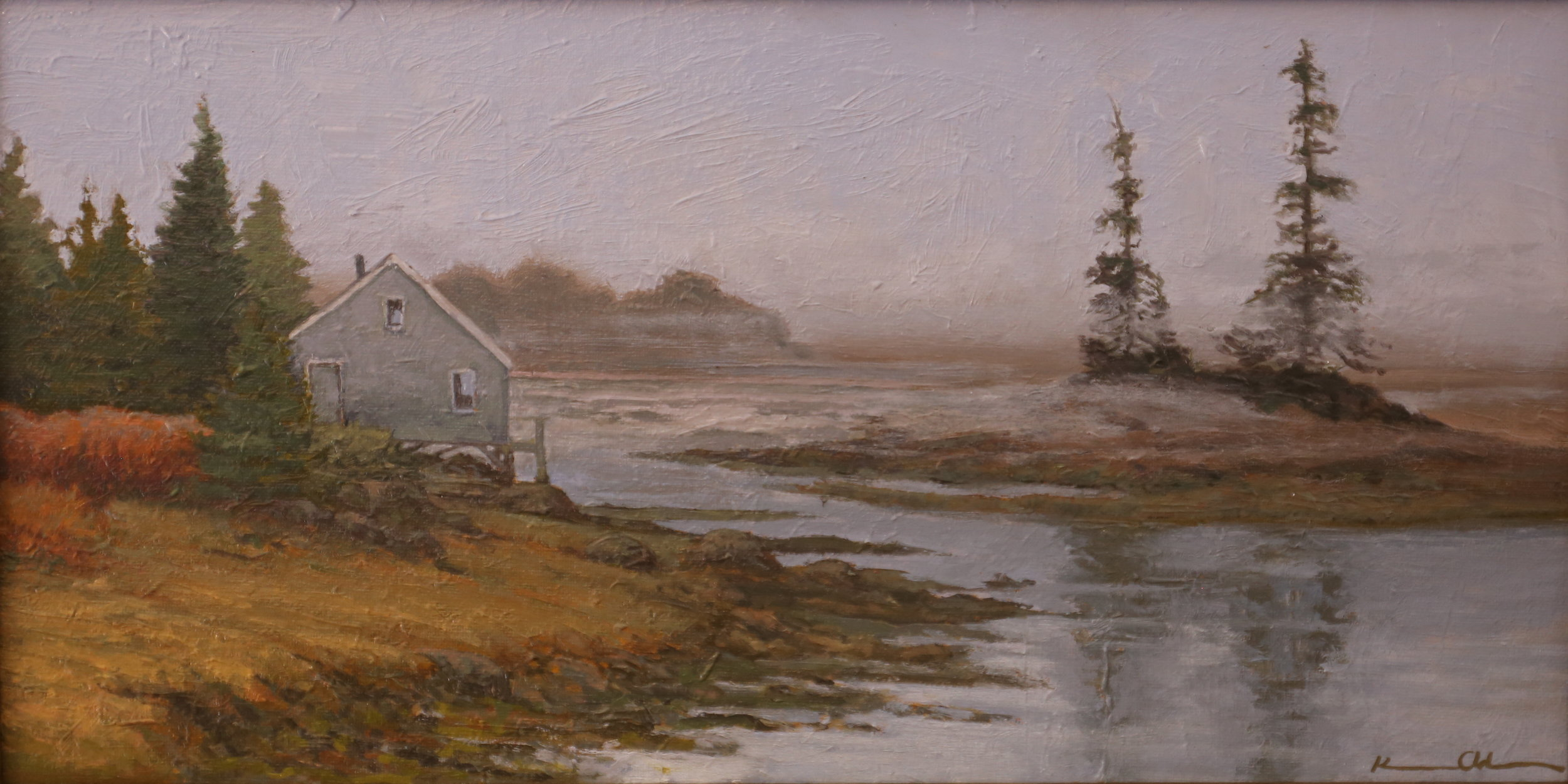 """Quiet Morning: Maine"" 8"" X 16"" OOC"