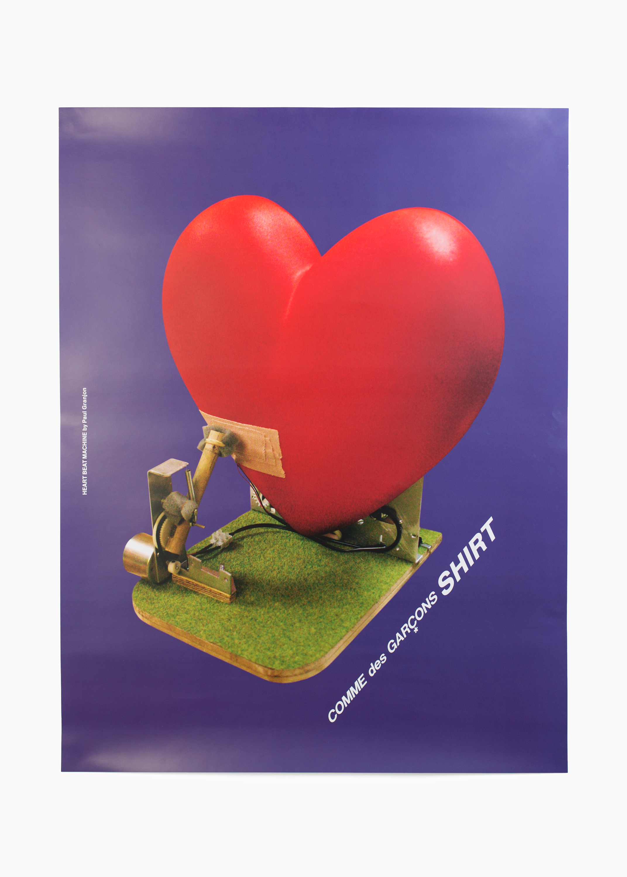 "Paul Granjon - Heart Beat Machine<br/>Poster 50 x 66 cm</br>Comme des Garçons 2008</br><a href=""mailto:info@ommu.org?subject=Price Request"">Price on request</a>"
