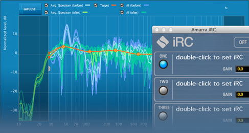Sonic Studio iRC featuring Dirac Live room calibration software