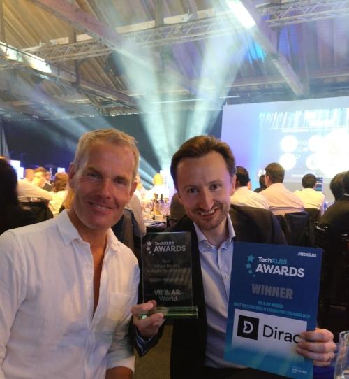 Dirac Research - sound technology- Best VR Technology Award at TechXLR8