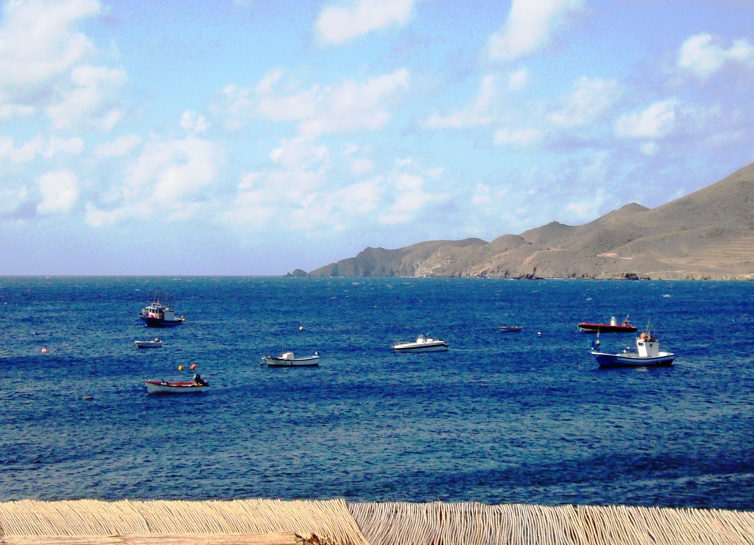 """New year's Day at our """"secret s[ain"""" location in cabo de gata - view from our window on january 1st 2018 - apologies that I cannot guarantee the weather for 2019!"""