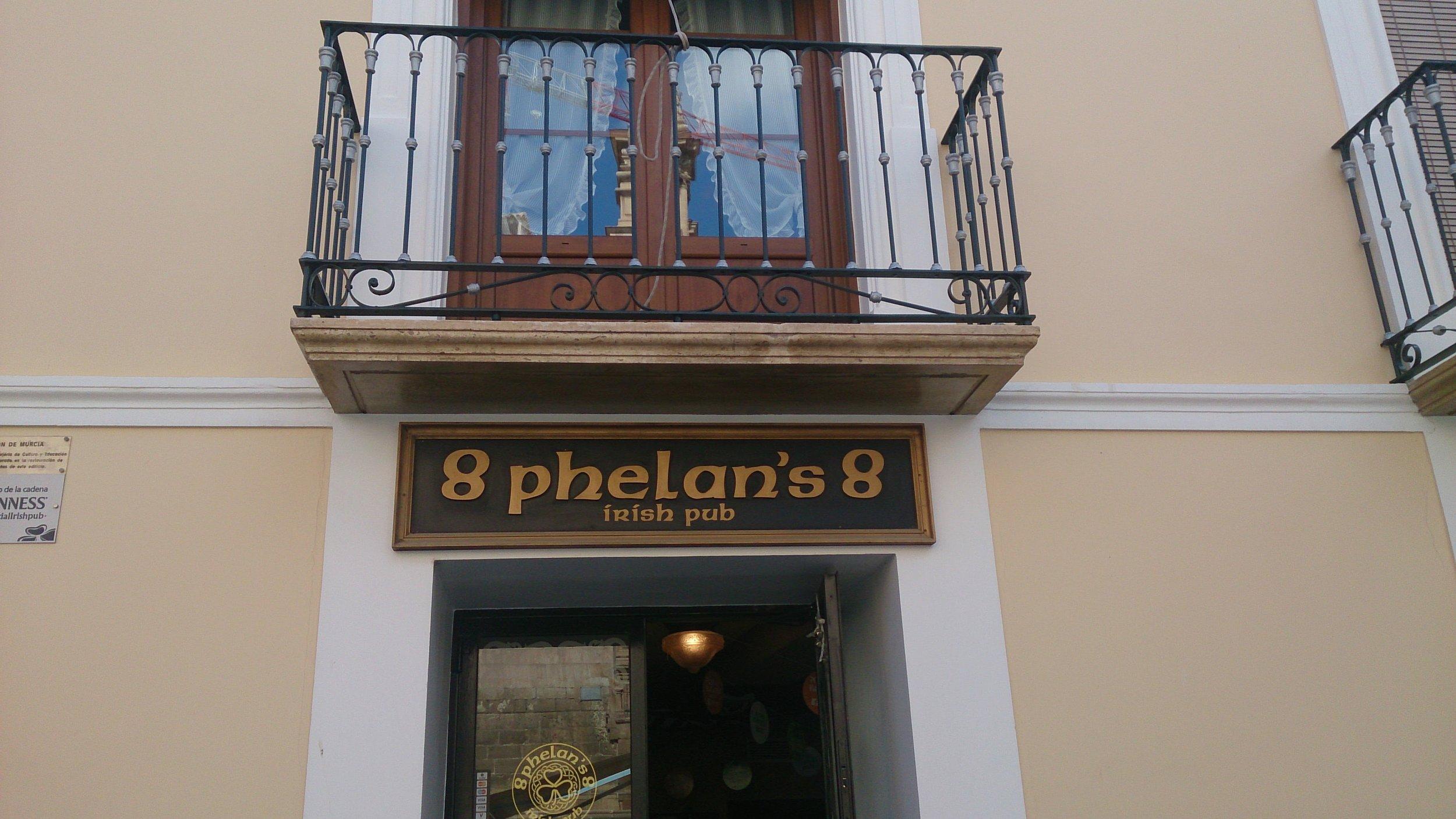 Where is Mr Phelan< I wonder...? Get your Guinness here. Lorca Irish pub.