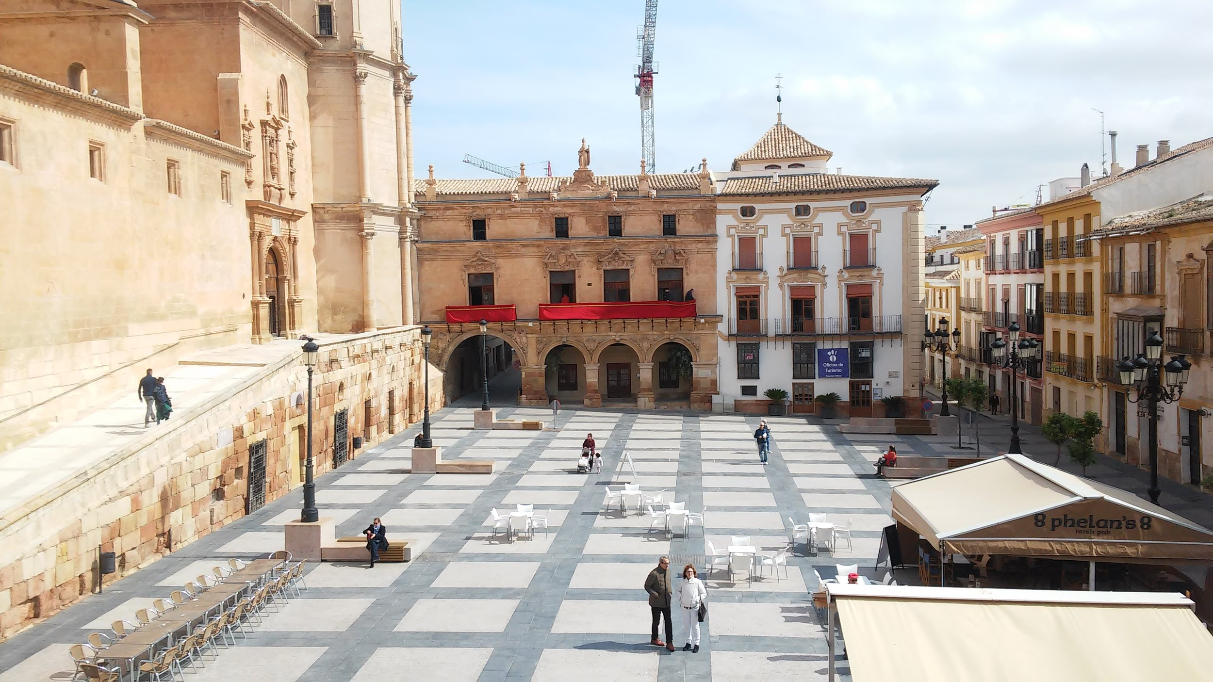 The Collegiate church of San Patricio in Lorca viewed from the Town Hall balcony.