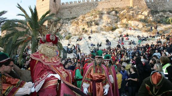 The Three Kings bring gifts for the children in all the pueblos in the province of Almeria