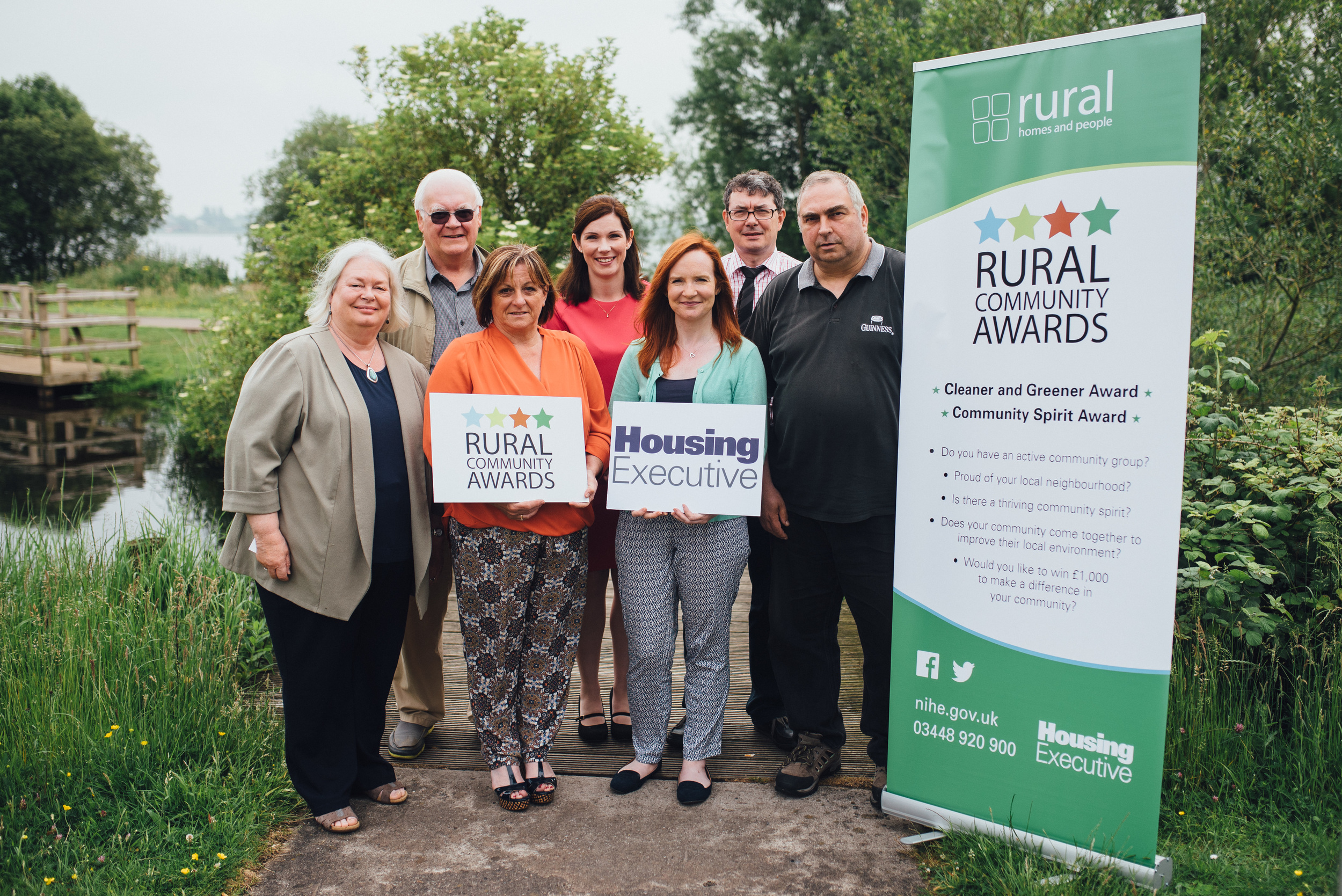 Launching the 2016 Housing Executive Rural Community Awards (l-r) Mary Watson (Camlough Community Association), Mike Jones (Castlerock Community Association), Eileen McGovern (Tirgan Community Association), Sinead Collins (Housing Executive), Orla McCann (Supporting Communities), Eoin McKinney (Housing Executive) and Clifford Wylie (Huntly Community Estates).