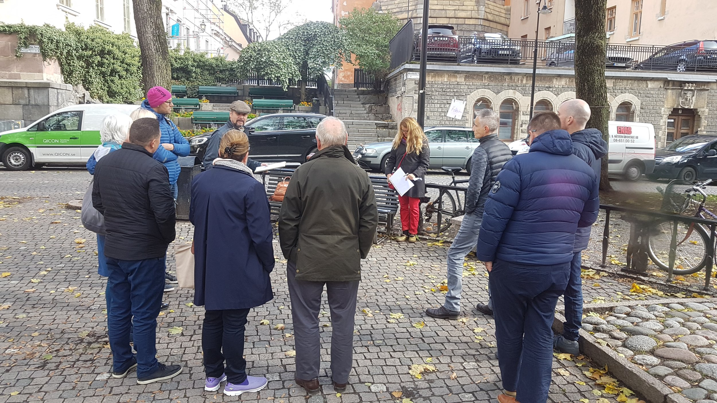 Touring Stockholm on foot.