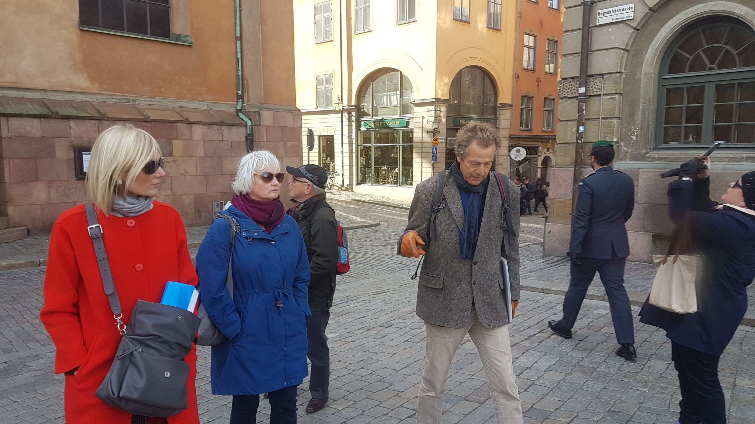 Magnus Hammer, my retired IUT colleague showing us the many delights that Stockholm has to offer.