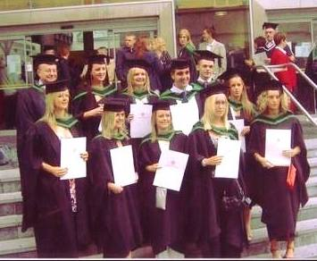 Way back when! Paddy with a group of Housing graduates at Ulster University.