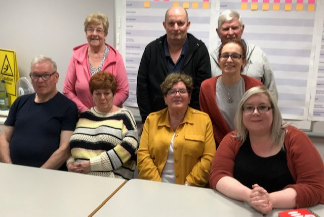 Pictured: Members include Rachel and Brian Davidson (joint chairperson), Frances Dorrian (vice chairperson), Patricia Donaghy (treasurer), Leanne McCreedy (secretary), Mary Wright, Paul Donald and John Grattan (committee members).