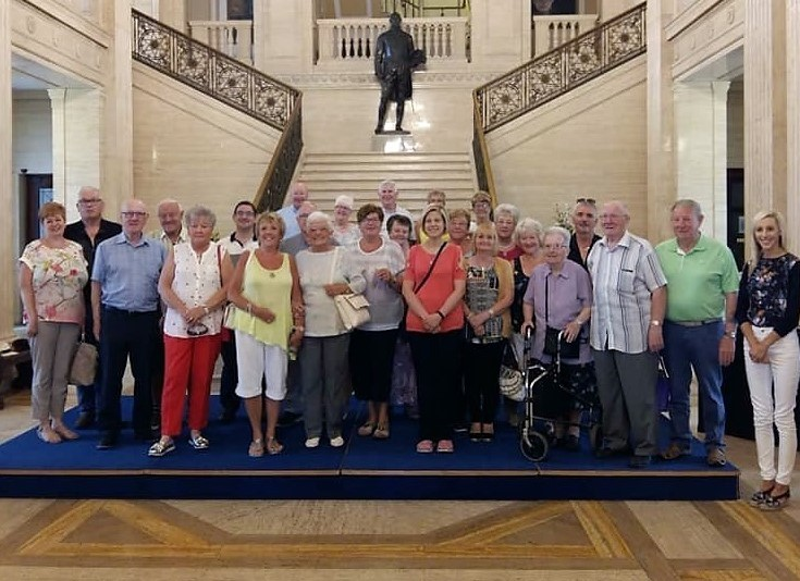 Group trip to Stormont last July.