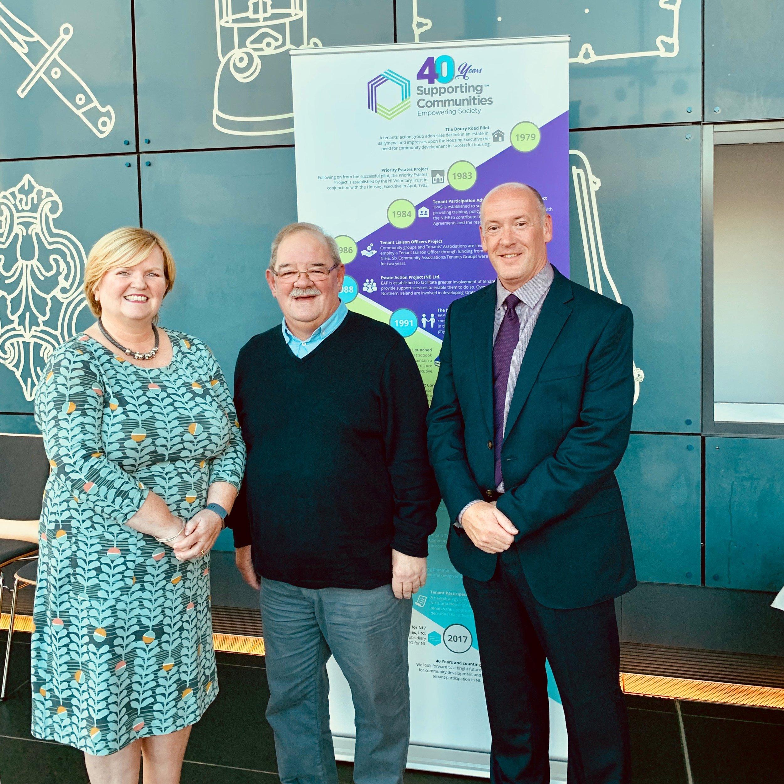 Theresa Patton, Brian Holmes and Colm McDaid