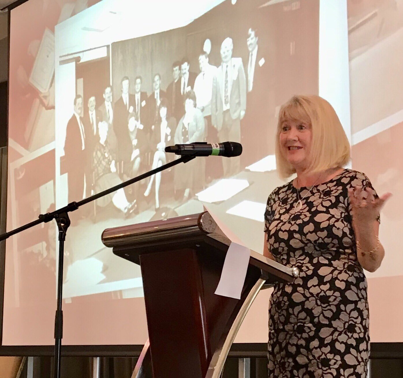 Lorraine Campbell, Chair of Supporting Commiunities, speaks about the 20 year history of the Annual Communitiy Conference.