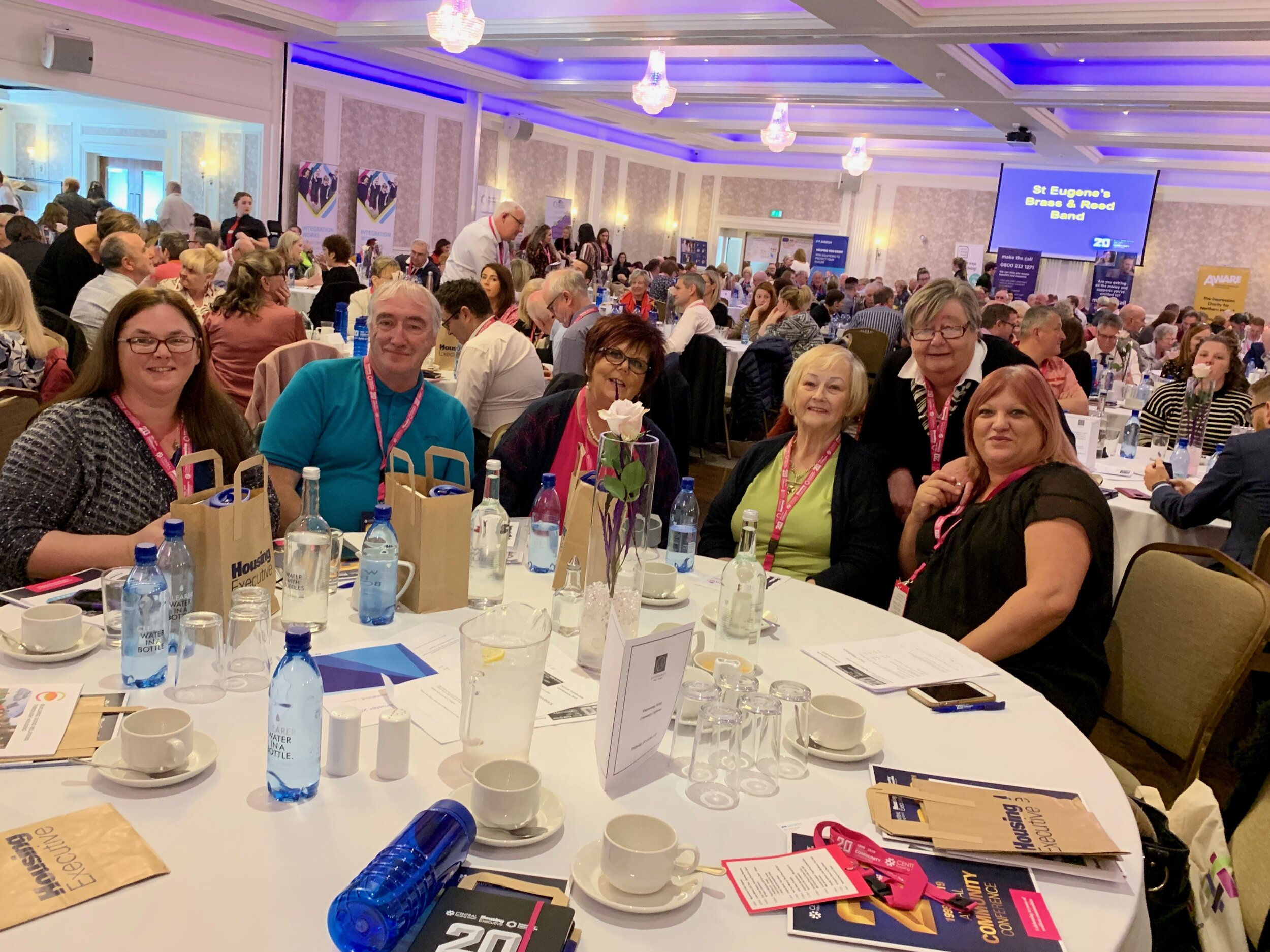 A jam packed conference room at the Silverbirch Hotel in Omagh!
