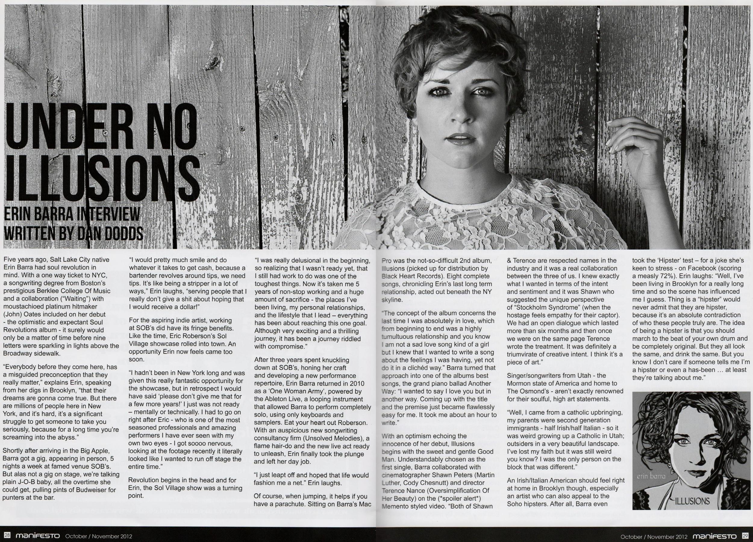 Manifesto Soul Magazine Nov 2012