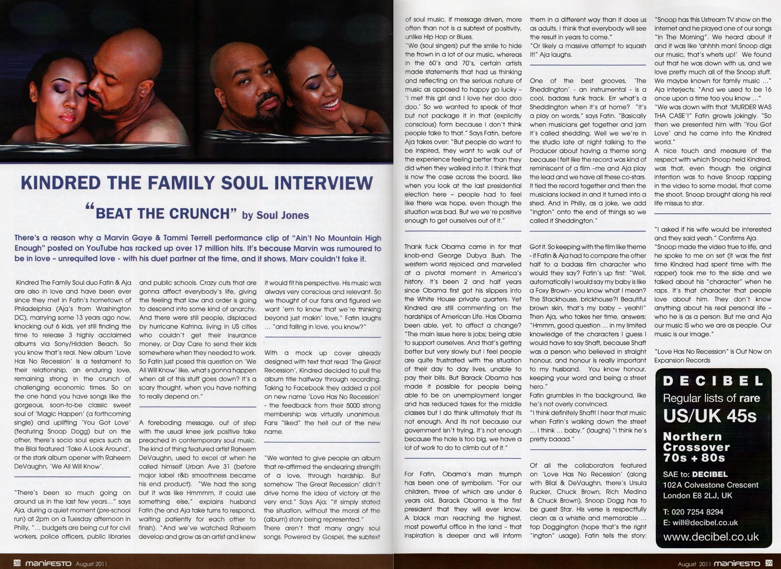 Manifesto Soul Magazine Aug 2011