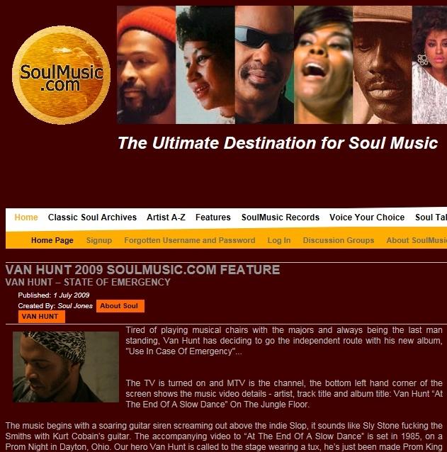Soulmusic.com Jul 2009