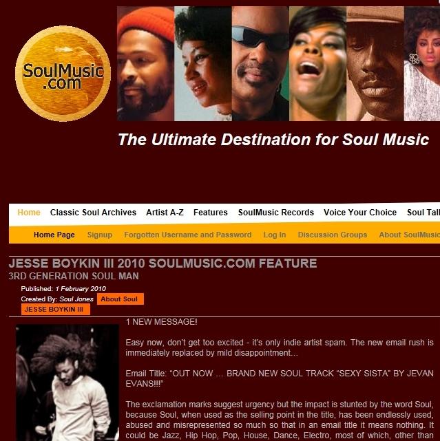 Soulmusic.com Feb 2010