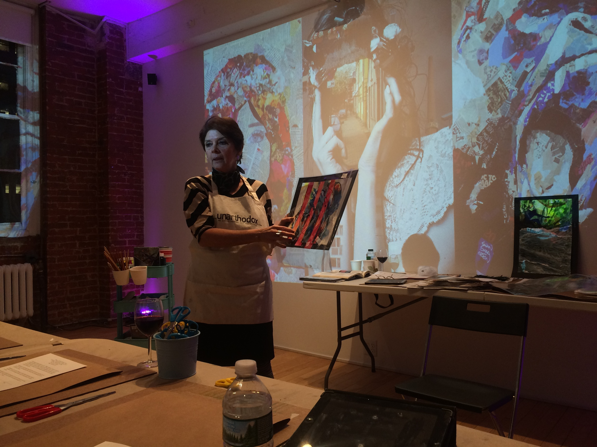 mixed media art classes for adults in NYC