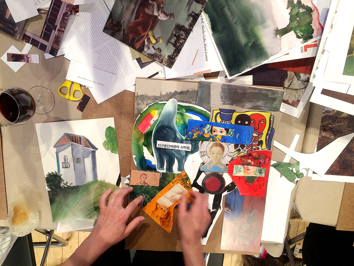 NYC collage workshop classes