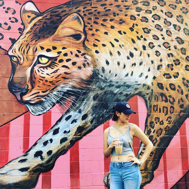 Class of 2021, Mount Mary University art student @sinnlynn finding a great backdrop while picking up her art supplies #mountmaryuniversity #artist #artsstudent #education #university #highereducation #downtownmke #downtownmilwaukee #inspiration #artist