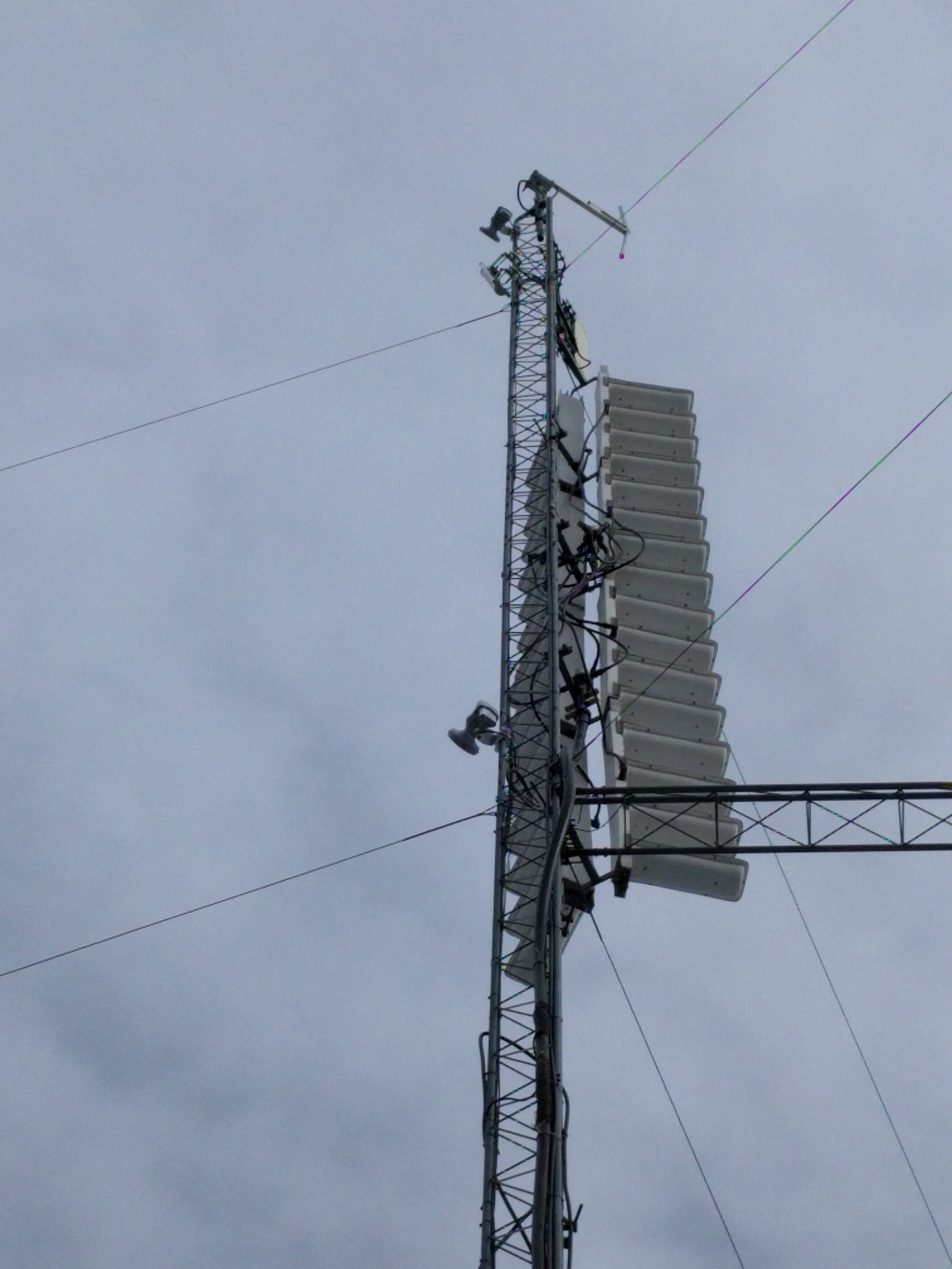 Our radios at the top of this tower.