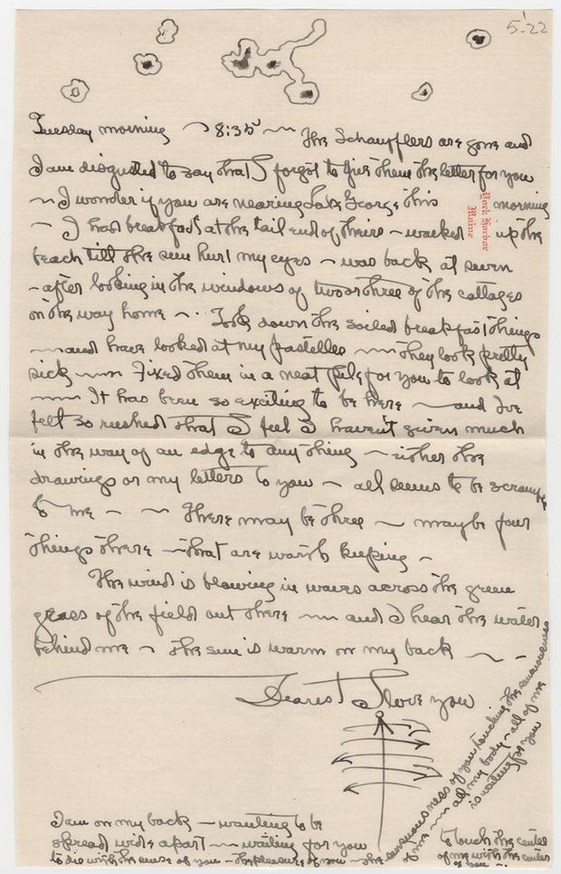 Georgia O'Keeffe to Alfred Stieglitz, 1922